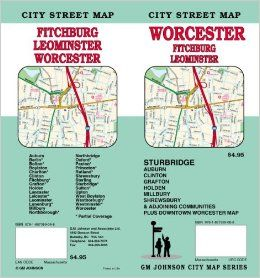 Worcester / Fitchburg / Leominster MA Street Map: GM Johnson & Associates Ltd.: 9781897359068: Books