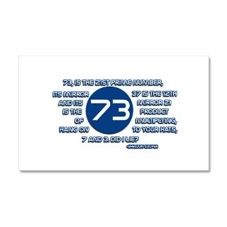 73 Prime Number Sheldon Cooper Wall Decal by MagicGardenDesigns
