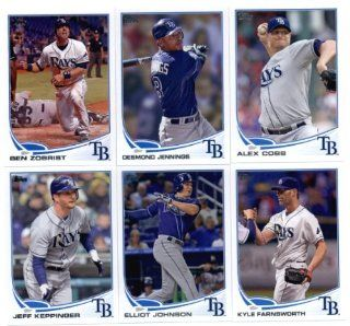 2013 Topps Tampa Bay Rays Team Set (Series 1   11 cards)   Evan Longoria, james Shields, Ben Zobrist, Desmond Jennings, Alex Cobb, Jeff Keppinger, Elliot Johnson, Kyle Farnsworth, Jeremy Hellickson, Wade Davis, and J.P. Howell: Sports Collectibles