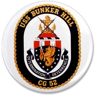 USS Bunker Hill CG 52 3.5 Button by usanavypride