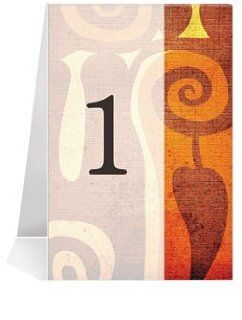 Wedding Table Number Cards   Caribbean Cool #1 Thru #30: Office Products