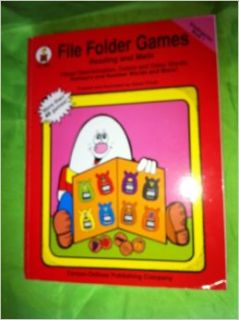 File Folder Games Reading and Math : Visual Discrimination, Colors, and Color Words, Numbers and Number Words and More! (kindergarten book 1): karen finch: Books