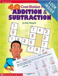 40 Cross number Puzzles: Addition & Subtraction (40 Cros number Puzzles): Bob Olenych: 0078073519040: Books