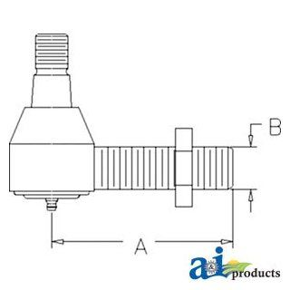 A&I   Tie Rod, Threaded (LH) (MFWD). PART NO: A LVA10727: Industrial & Scientific