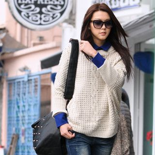 Oversized Sweater, Beige , One Size   SO Central