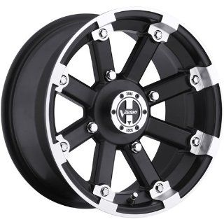 Vision Lock Out 12 Machined Black Wheel / Rim 5x4.5 with a 2.5mm Offset and a 79.4 Hub Bore. Partnumber 393 127545GBML4: Automotive