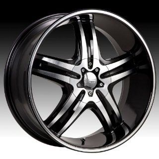 Cruiser Alloy Impulse 17x7.5 Machined Black Wheel / Rim 5x4.5 & 5x120 with a 42mm Offset and a 74.10 Hub Bore. Partnumber 908MB 7755742: Automotive