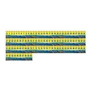 SCBTCR4492 8   WY 0 100 NUMBER LINE HEADLINERS pack of 8: Office Products