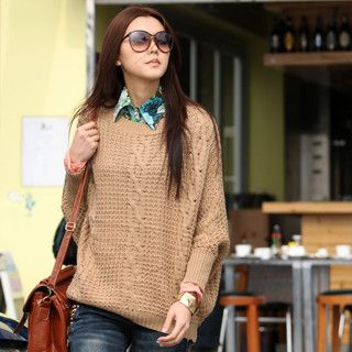 Oversized Sweater, Brown , One Size   SO Central