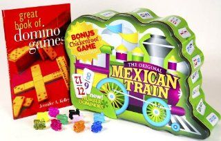 Dominoes Mexican Train Double 12 with Numbers _ Gift Set: Toys & Games