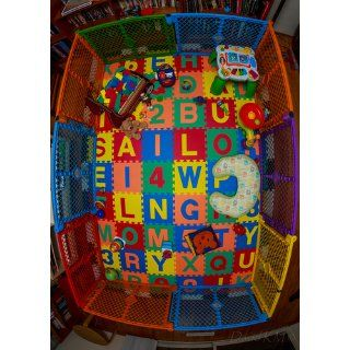 "Children Alphabet Letters and Counting Numbers (A Z, 0 9) Soft Mat   Each Tile: 12"" X 12"" X ~9/16"" Extra Thick: Baby"