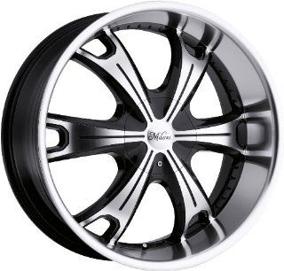 Milanni Stellar 17 Machined Black Wheel / Rim 6x5.5 with a 18mm Offset and a 110 Hub Bore. Partnumber 452 7883MF18: Automotive