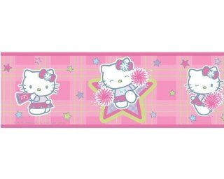 HELLO KITTY peel & stick WALLPAPER BORDER: Home Improvement