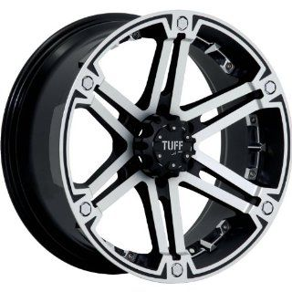 Tuff T01 18 Machined Black Wheel / Rim 6x5.5 with a 10mm Offset and a 106.1 Hub Bore. Partnumber T01HM6M10K106: Automotive
