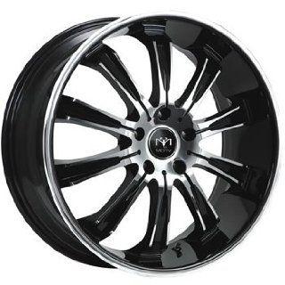 Motiv Maximus 20x8.5 Chrome Black Wheel / Rim 5x120 with a 35mm Offset and a 74.10 Hub Bore. Partnumber 405CB 2851235 Automotive