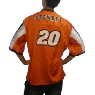 Mens NASCAR #20 Marlin Stewart orange racing jersey. 100% authentic Winner's Circle jersey with name, number & logo designs printed on jersey. Sharp colors and logo combination make this one of the hottest race car fan gears around (L   040348 040