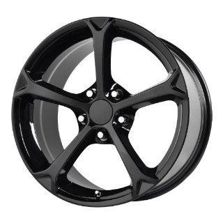 "Wheel Replicas V1162 Corvette Grand Sport Edition Black Wheel (17x8.5""/5x4.75"") Automotive"