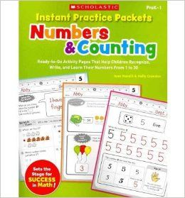 Instant Practice Packets Numbers & Counting, PreK 1 Ready To Go Activity Pages That Help Children Recognize, Write, and Learn Their Numbers from 1 to 30 (Teaching Resources) (Paperback)   Common By (author) Holly Grundon By (author) Joan Novelli 08