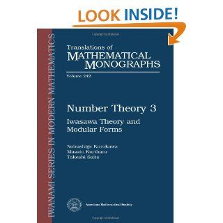 Number Theory 2: Introduction to Class Field Theory (Translations of Mathematical Monographs): K. Kato: 9780821813553: Books