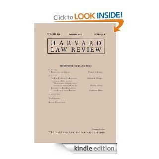 Harvard Law Review: Volume 126, Number 1   November 2012 eBook: Harvard Law Review: Kindle Store