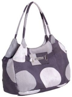 "Classy Vegan Handbag ""The Pumpa"" Oozing with Style   Available in Deep Sea Blue; Chocolate Caramel Brown; Ash Grey & Silver Polka (Ash Grey & Silver Polka): Clothing"