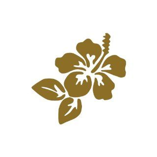 Hawaiian Flower Hibiscus GOLD vinyl window decal sticker : Labels Stickers : Office Products