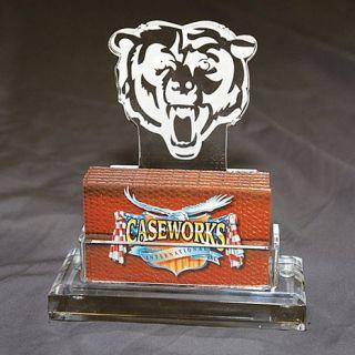 Chicago Bears NFL Logo Desktop Acrylic Business Card Holder