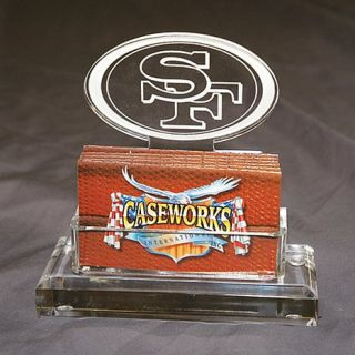 San Francisco 49ers NFL Logo Desktop Acrylic Business Card Holder