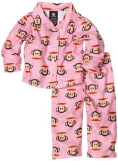 Paul Frank Baby girls Infant Julius Allover Face Print Pajama Set, Pink, 18 Months: Clothing