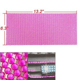 Car Interior Decor Self Adhesive Crystal Sheet Fuchsia: Automotive