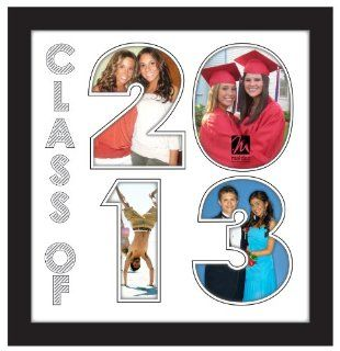 Malden International Designs Graduation 4 Opening Class of 2013 Matted Numbers Collage Picture Frame   Photo Frames