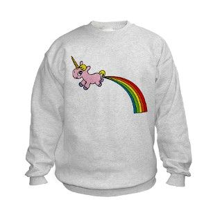 Unicorn Rainbow Poo Sweatshirt by twom