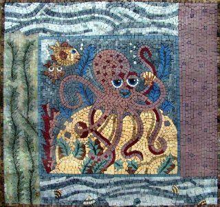 Octopus Hand Made Marble Mosaic Decorative Wall Floor Bath Pool   Marble Tiles