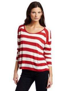 Patterson J. Kincaid Women's Abrielle Top, Red Stripe, X Small Clothing