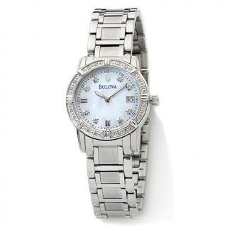 "Bulova ""Highbridge"" Ladies' Diamond Stainless Steel Bracelet Watch"