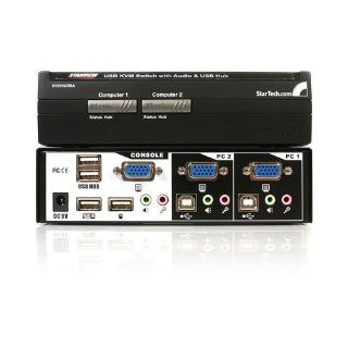 STARTECH 2 port USB desktop kvm switch w/audio switching   NEW   Retail   SV231USBA: Computers & Accessories