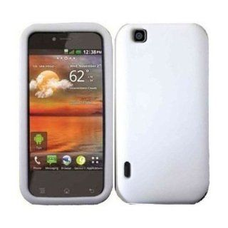 SODIAL(TM) White Silicone Jelly Skin Case Cover for LG Maxx Touch T Mobile Mytouch E739: Electronics