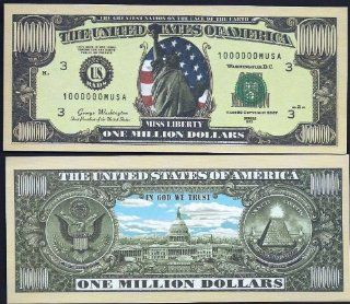 "Miss Liberty ""White House"" Novelty $Million Dollar Bill Collectible : Other Products : Everything Else"