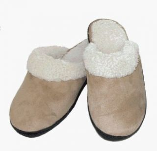 Deluxe Indoor / Outdoor Women's Clog Slippers by Isotoner (Camel XL): Clothing