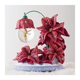 Tinker Bell Poinsetta Holiday Snow Globe