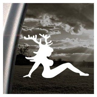Sexy Chic With Deer Horns Decal Truck Window Sticker: Automotive