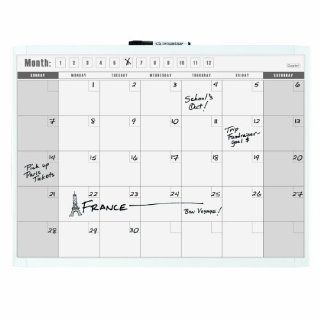 Quartet Dry Erase 1 Month Calendar, 17 x 23 Inches, Colors May Vary (26 550262Q)  Dry Erase Boards