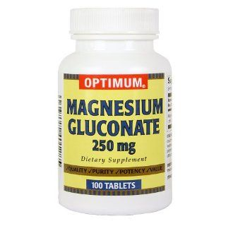 Alfa Vitamins Magnesium Gluconate 550 Mg 100 Tablets   Body Energy   Nerves and Muscles Health: Health & Personal Care
