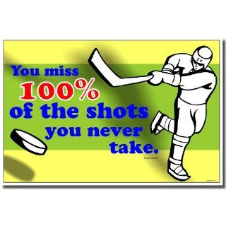 You Miss 100 Percent of the Shots You Never Take Vinyl Wall Art Decal   Wall Decor Stickers