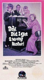 Boy Did I Get a Wrong Number [VHS]: Bob Hope, Elke Sommer, Phyllis Diller, Cesare Danova, Marjorie Lord, Kelly Thordsen, Benny Baker, Terry Burnham, Joyce Jameson, Harry von Zell, Kevin Burchett, Keith Taylor, Lionel Lindon, George Marshall, Edward Small,