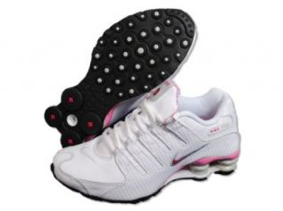 Womens Nike Shox NZ Running Shoes White / Voltage Cherry / Grey 314561 102 Size 10: Shoes