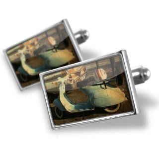 """Neonblond Cufflinks """"Vintage Vespa Scooter""""   cuff links for man: NEONBLOND Jewelry & Accessories: Jewelry"""