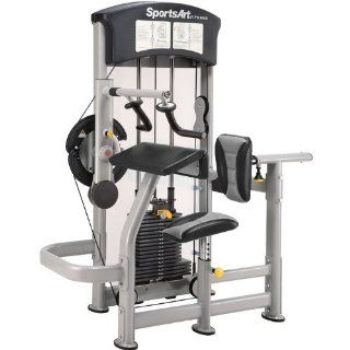 SportsArt DF 105 Biceps Curl & Triceps Extension : Arm Exercise Machines : Sports & Outdoors