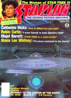 STARLOG #116 Star Trek women Nichelle Nichols Dr Who Sydney Newman Aliens 3 1987: Collectibles & Fine Art