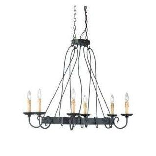 Hampton Bay Glasgow 6 Light 72 in. Hanging Burnt Sienna Island Chandelier